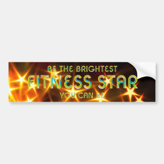 TOP Fitness Star Bumper Sticker
