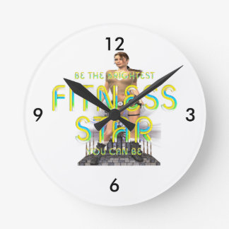 TOP Fitness Star Round Clock