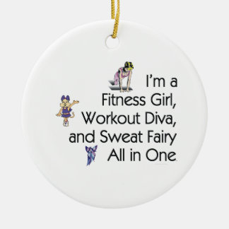TOP Fitness Triple Play Ceramic Ornament