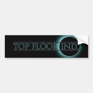 top floor logo 1 blue bumper sticker