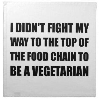Top Food Chain Vegetarian Cloth Napkin