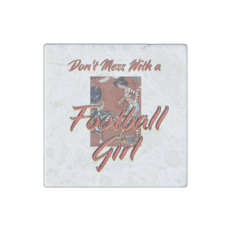 TOP Football Girl Stone Magnet