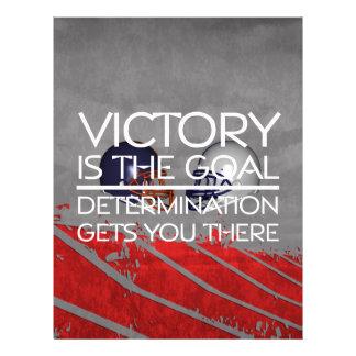 TOP Football Victory Slogan Full Color Flyer