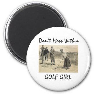 TOP Golf Girl 6 Cm Round Magnet