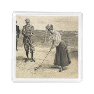 TOP Golf Girl Acrylic Tray