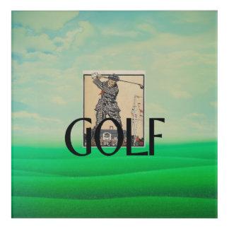 TOP Golf Old School Acrylic Wall Art