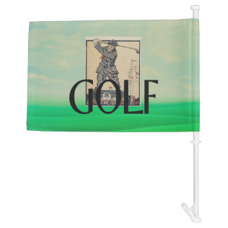 TOP Golf Old School Car Flag