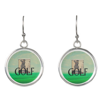 TOP Golf Old School Earrings