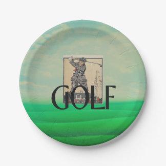 TOP Golf Old School Paper Plate