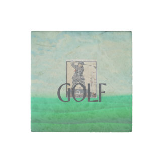 TOP Golf Old School Stone Magnet
