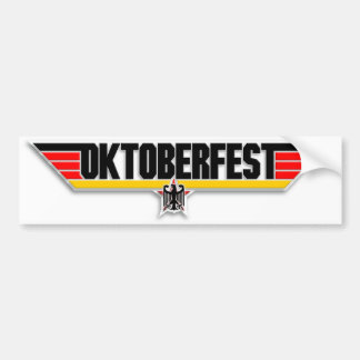 Top Gun Oktoberfest Logo German Beer Bumper Decal
