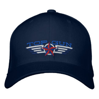 Top Gun Star Badge Pilot Wings Embroidered Hats