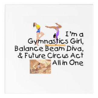 TOP Gymnastics All in One Acrylic Wall Art