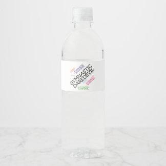 TOP Gymnastics Daredevil Water Bottle Label