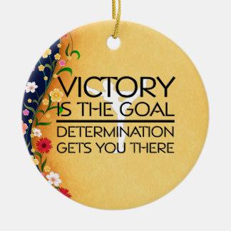 TOP Gymnastics Victory Slogan Ceramic Ornament