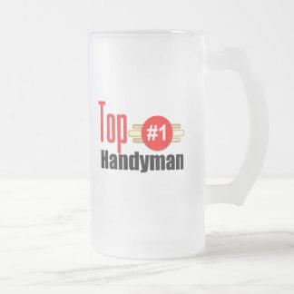 Top Handyman Frosted Glass Mug