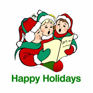 TOP Happy Holidays Cut Out