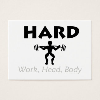 TOP Hard Work Head Body Business Card