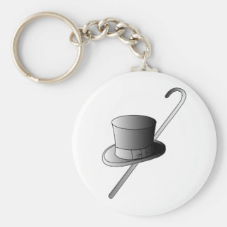 Top Hat and Cane Key Ring
