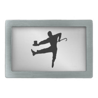 Top Hat and Cane Tap Dancer Belt Buckle