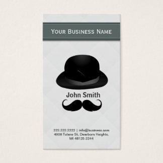 Top hat and mustache business card