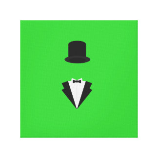 top-hat and smoking gallery wrapped canvas