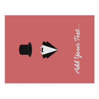 top-hat and smoking postcard