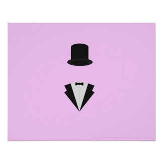 top-hat and smoking poster