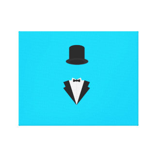 top-hat and smoking stretched canvas print