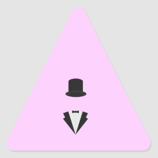 top-hat and smoking triangle sticker