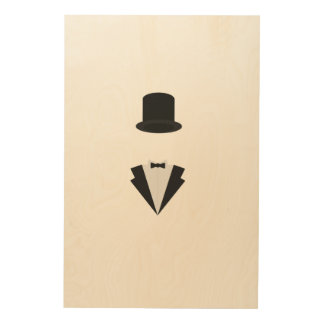 top-hat and smoking wood canvas