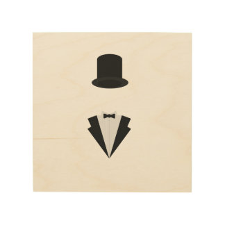 top-hat and smoking wood print