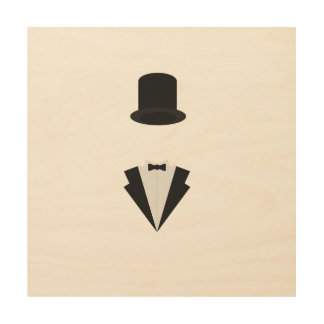 top-hat and smoking wood prints