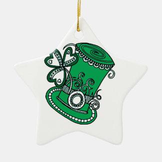 Top Hat Ceramic Ornament