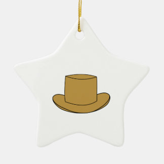 Top Hat illustration Brown Christmas Ornaments