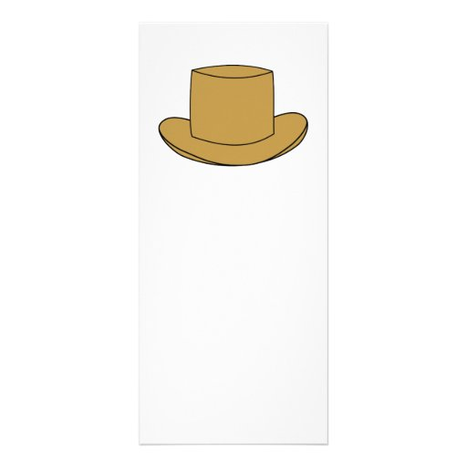 Top Hat illustration. Brown. Personalized Rack Card