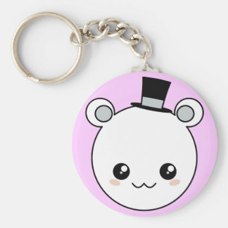Top Hat Kawaii Bear Keychains