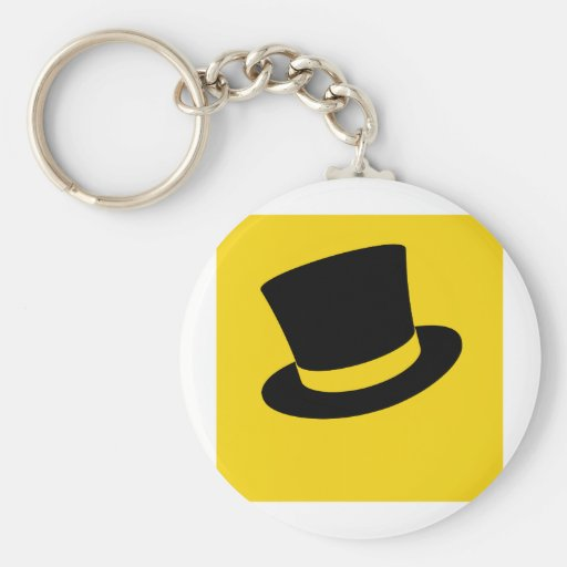 Top hat key chains