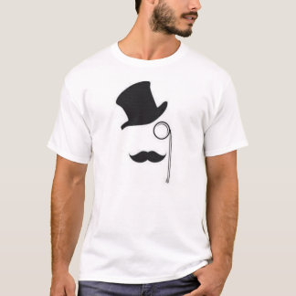Top-hat, Monocle and Moustache T-shirt