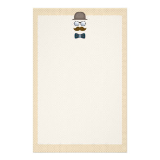 Top Hat, Moustache, Glasses and Bow Tie Custom Stationery