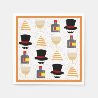Top Hat New Year Party Cocktail Napkins Disposable Serviettes