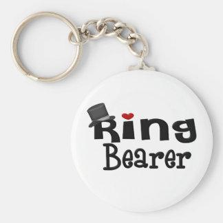 Top Hat Ring Bearer Key Ring