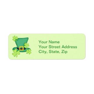 Top Hat Shamrocks Lime Green Sticker
