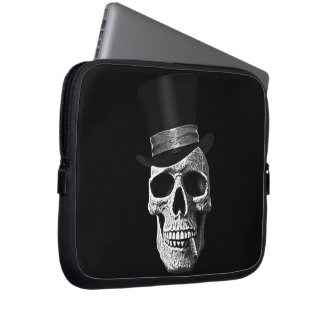 Top hat skull laptop sleeve
