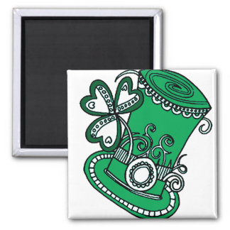 Top Hat Square Magnet