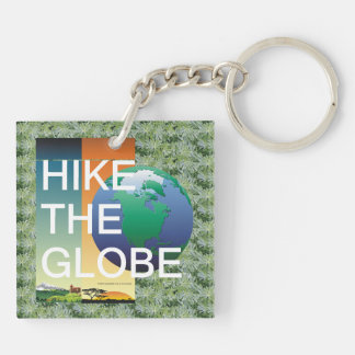 TOP Hike the Globe Double-Sided Square Acrylic Key Ring