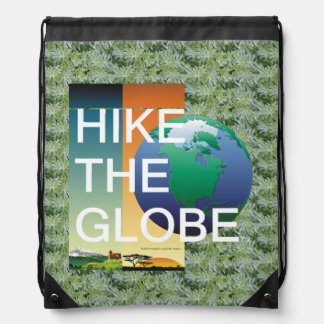 TOP Hike the Globe Drawstring Bag
