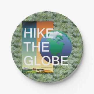 TOP Hike the Globe Paper Plate
