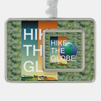 TOP Hike the Globe Silver Plated Framed Ornament