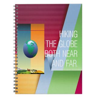 TOP Hike the Globe Spiral Notebook